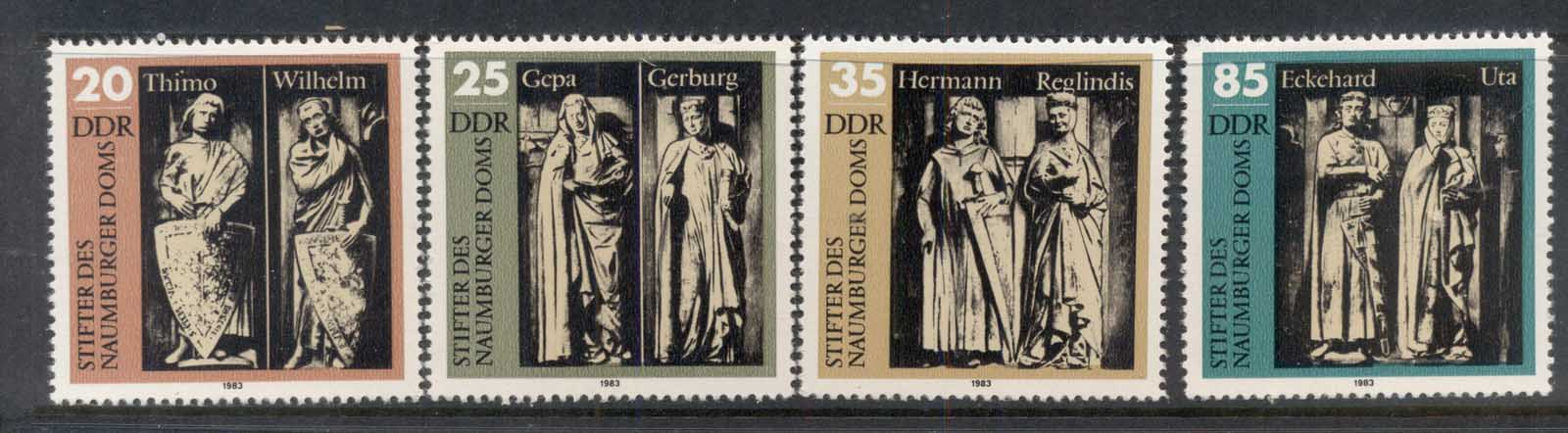 Germany DDR 1983 Nurnberg Cathederal Statues MUH
