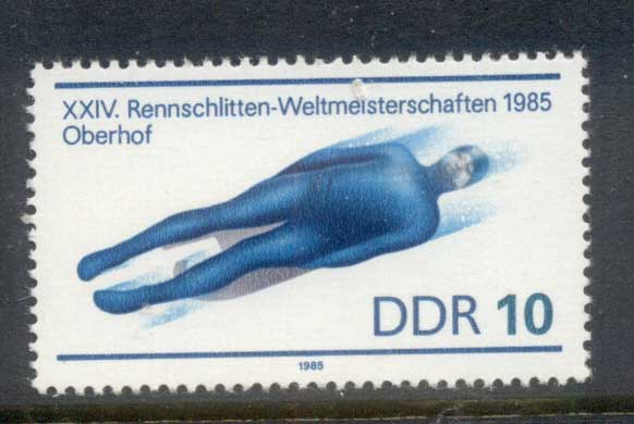 Germany DDR 1985 World Luge Championships MUH