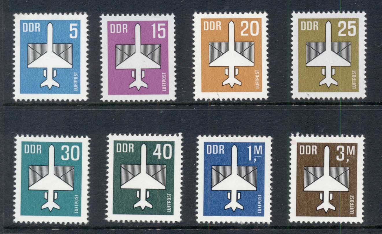 Germany DDR 1982-87 Airmail (8/9, no 5m) MUH