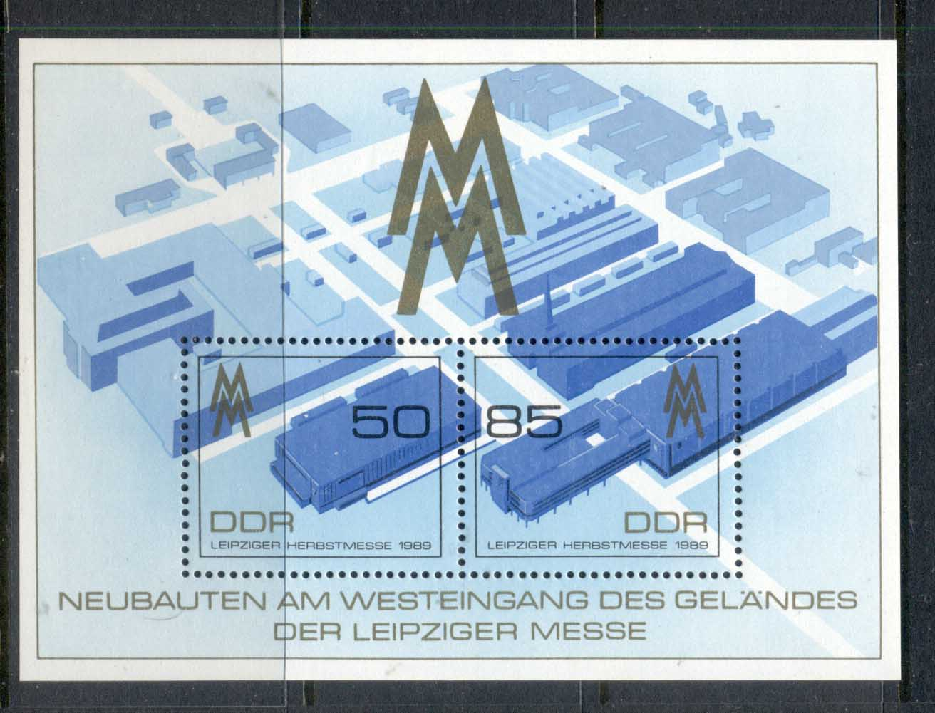 Germany DDR 1989 Leipzig Fair MS MUH - Click Image to Close