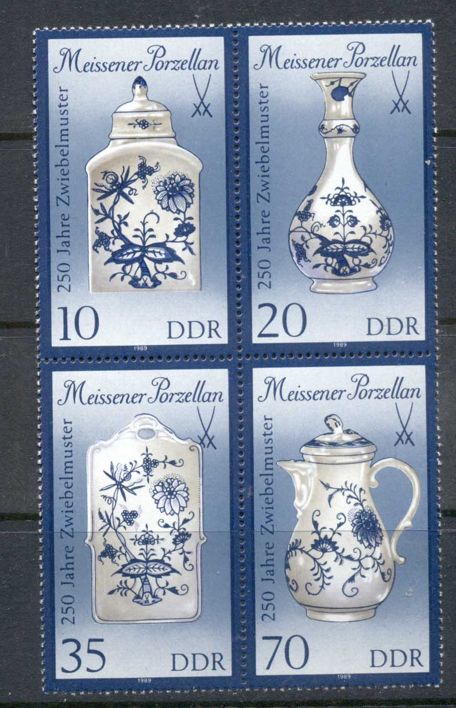 Germany DDR 1989 Meissen Porcelaine MUH