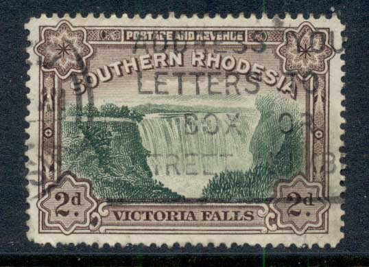 Southern Rhodesia 1933-41 Victorial falls 2d FU