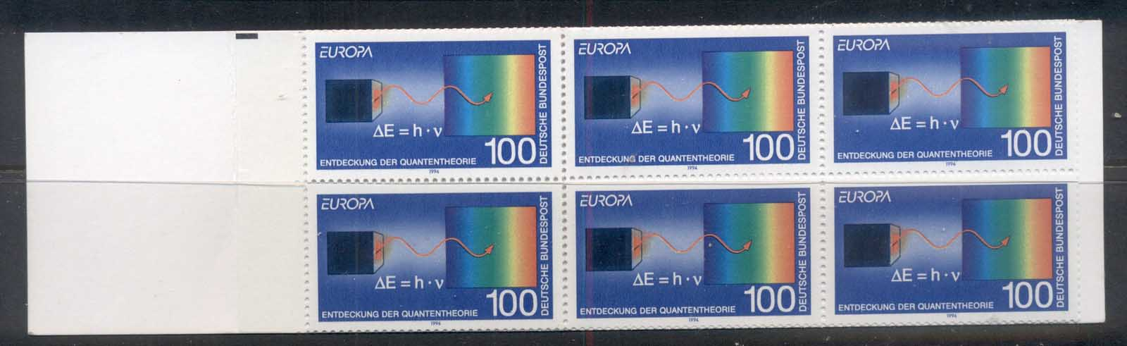 Germany 1994 Europa 100pf Quantum Theory booklet MUH