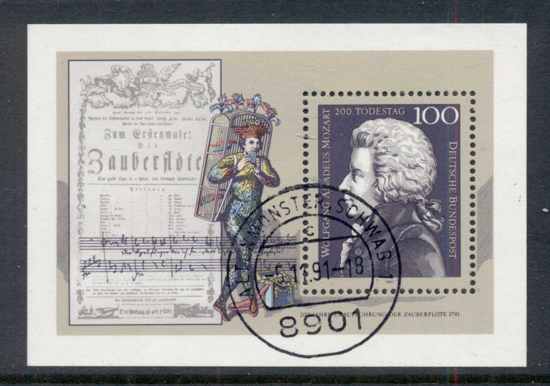 Germany 1991 Mozart MS CTO