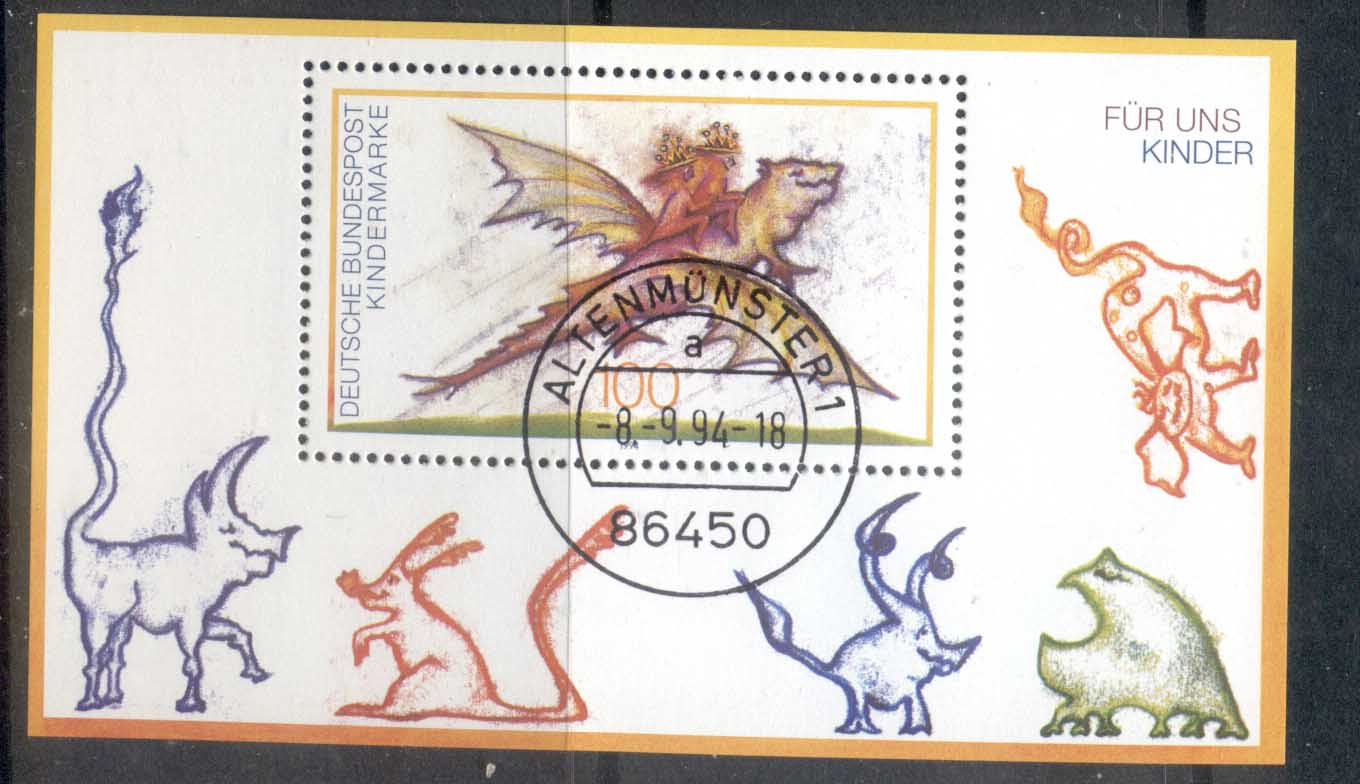 Germany 1994 For the Children, dragon MS CTO