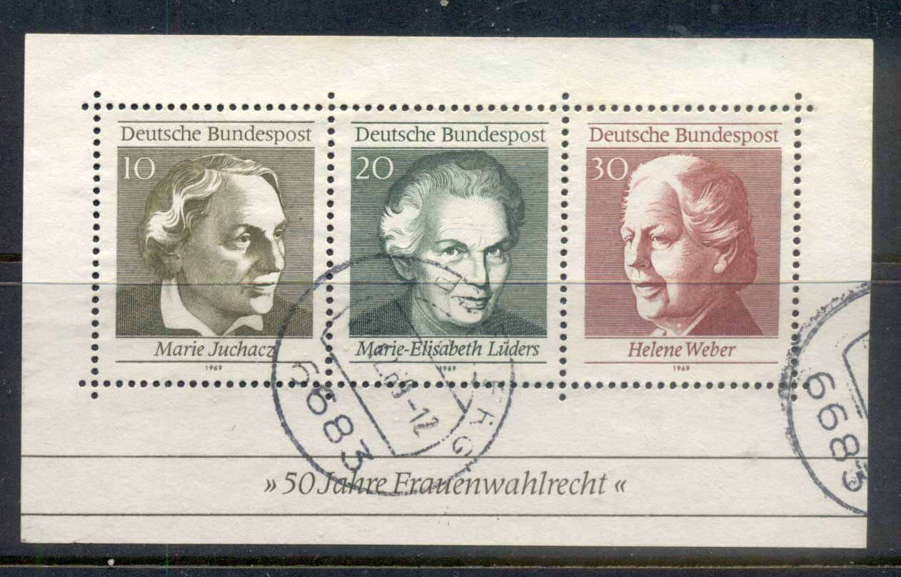 Germany 1969 Womens Suffrage MS CTO