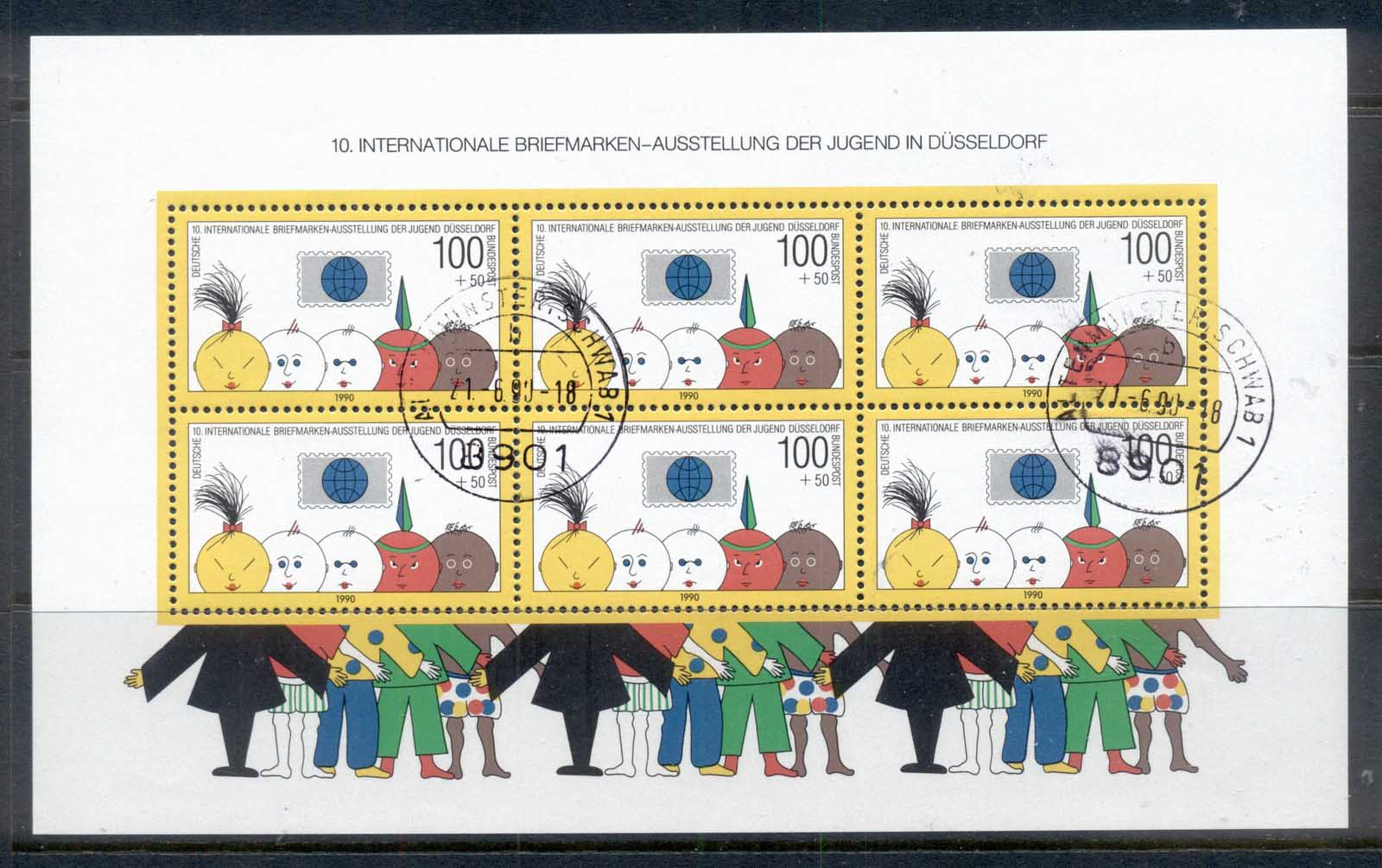Germany 1990 Welfare Promotion of Philately MS CTO