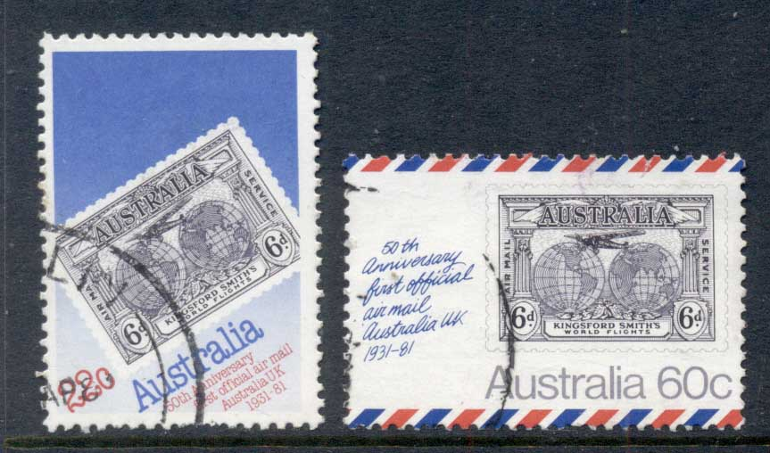 Australia 1981 Australian-UK Airmail Flight FU