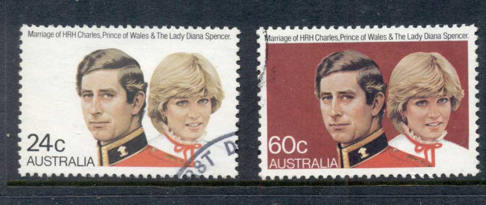 Australia 1981 Royal Wedding Charles & Diana FU