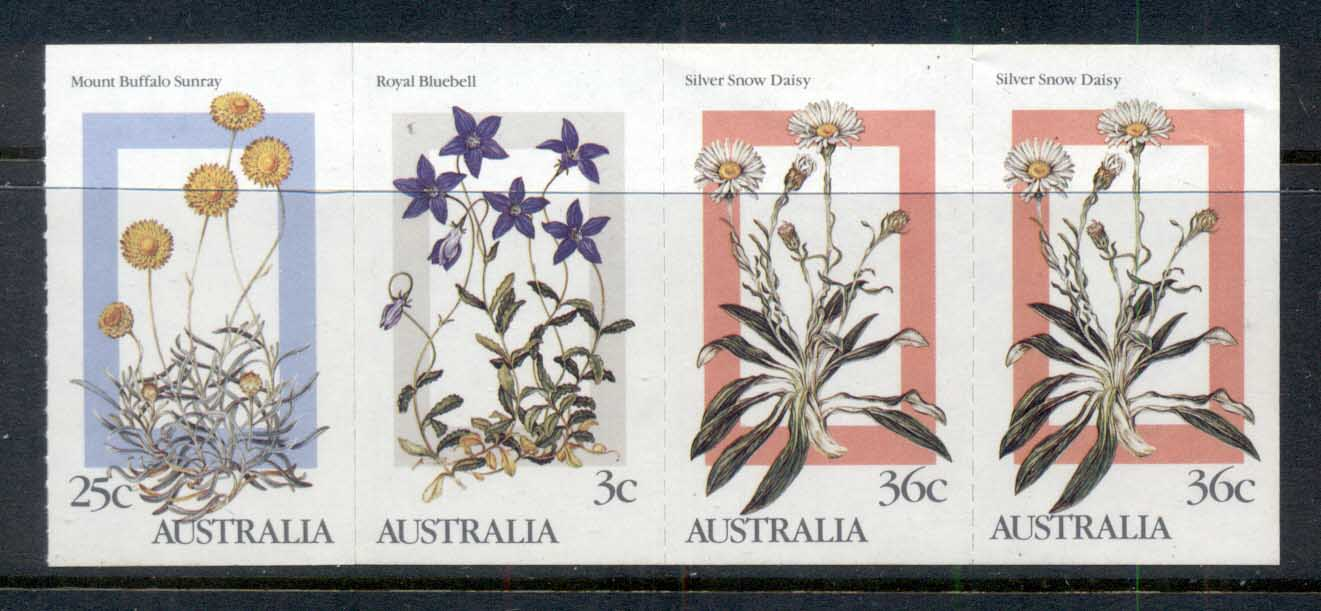 Australia 1986 Alpine Wildflowers $1 booklet pane MUH