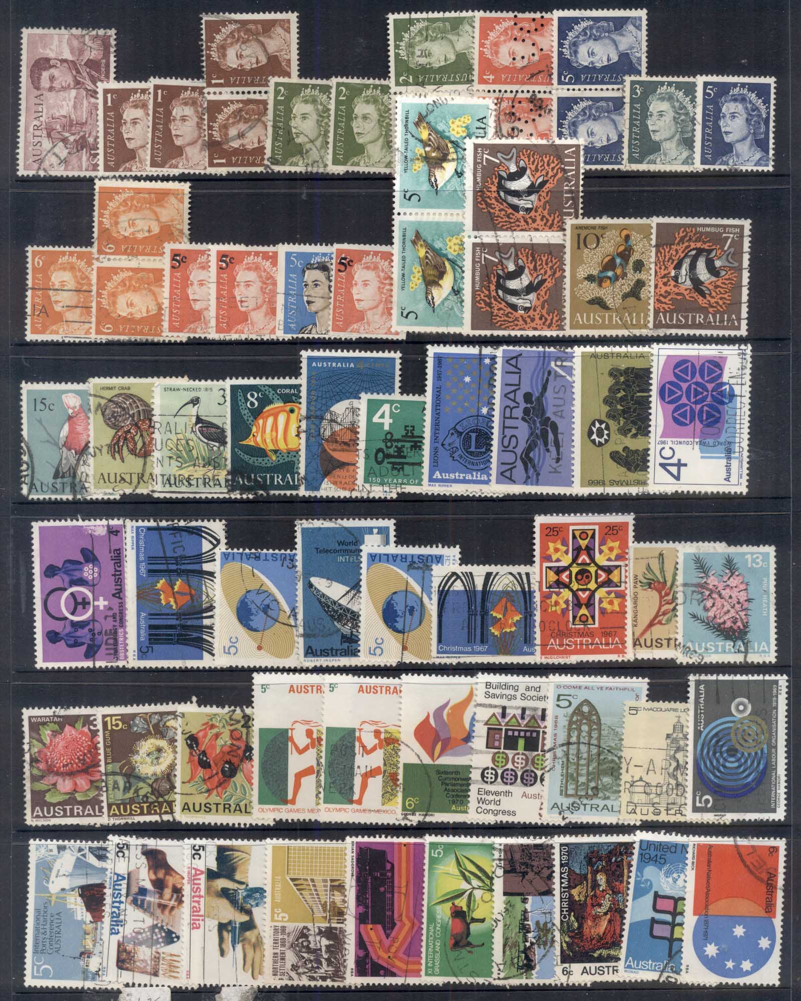 Australia 1960's to 70's Assorted Oddments, Sets, Singles & duplicates 7 scans