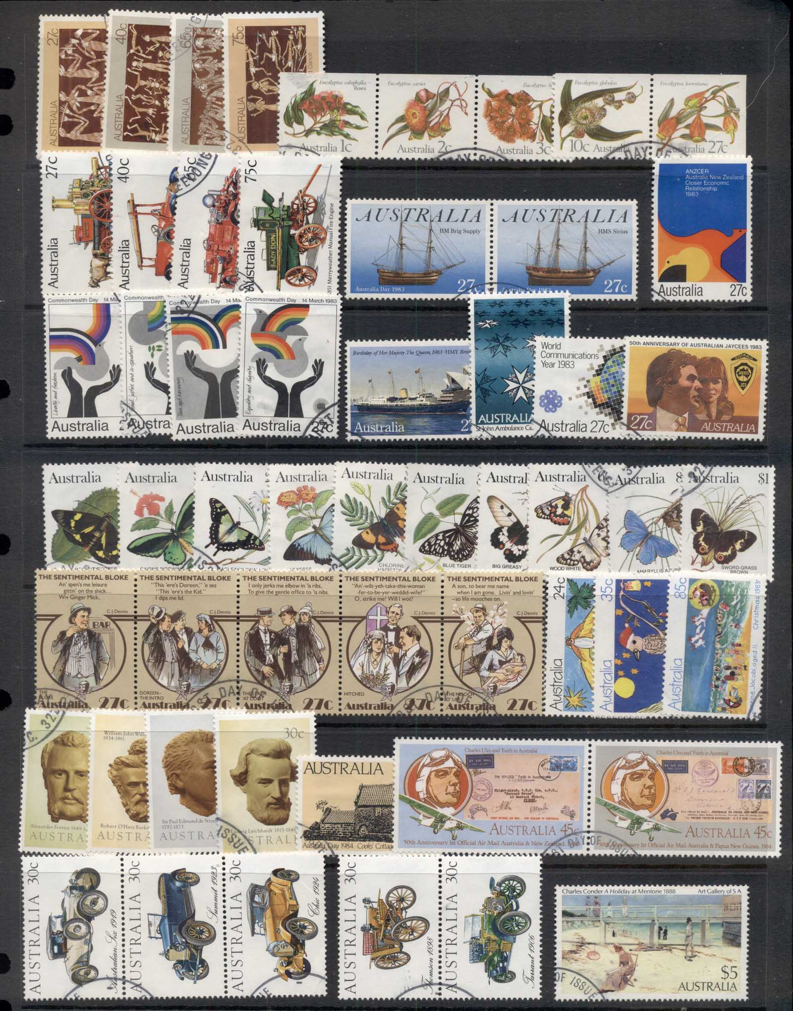 Australia 1980-84 Mostly complete for the era selection ex FDC, FU 5 scans