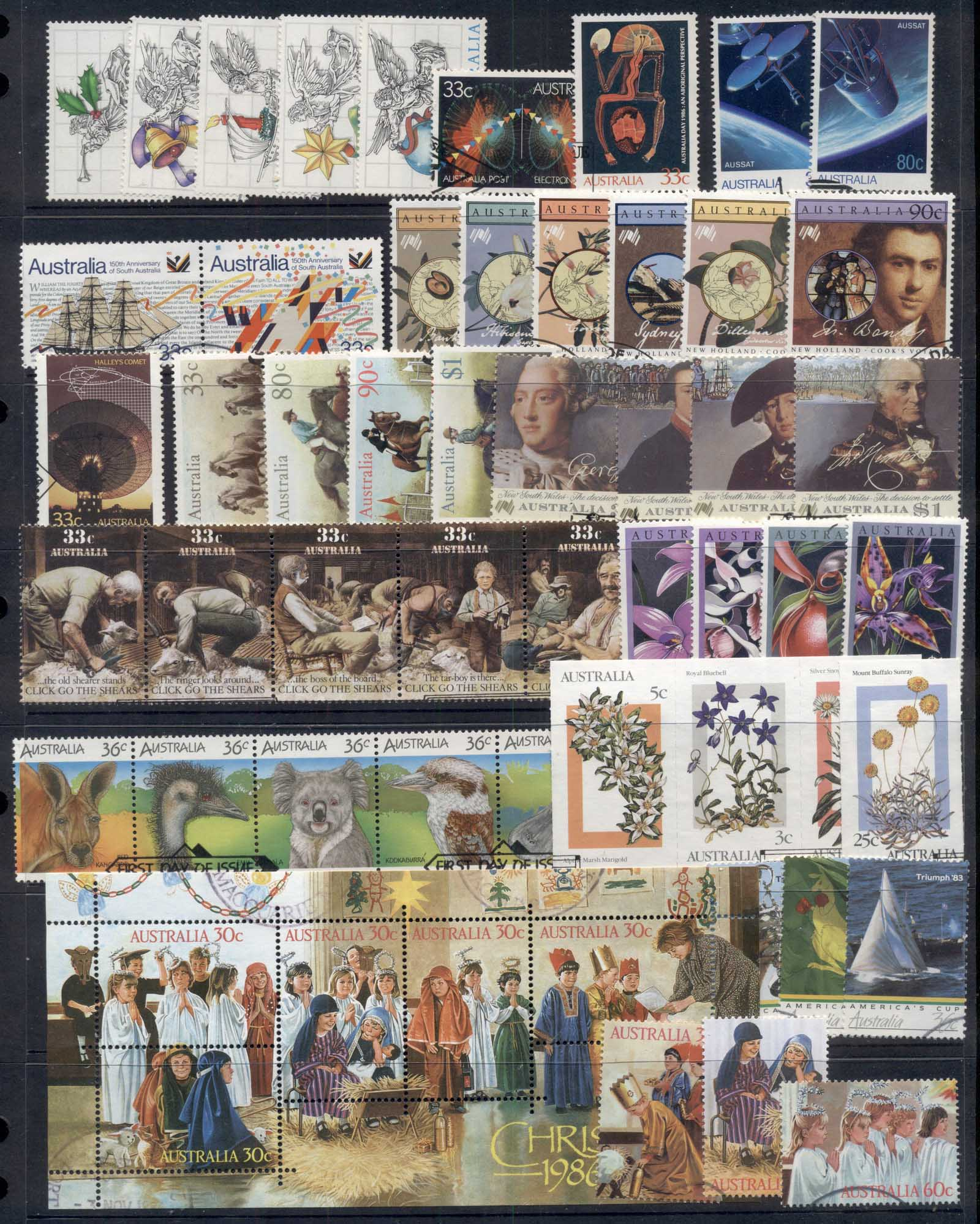 Australia 1985-89 Mostly complete for the era selection ex FDC, FU 7 scans