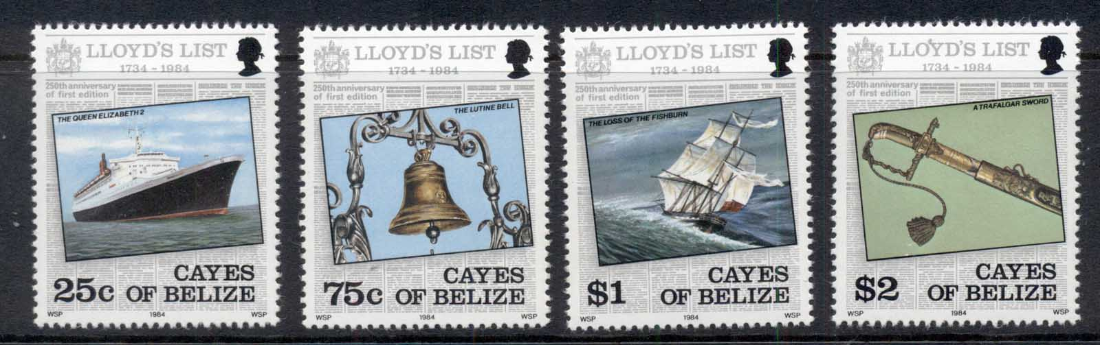 Cayes of Belize 1984 Lloyd's List Ships MUH