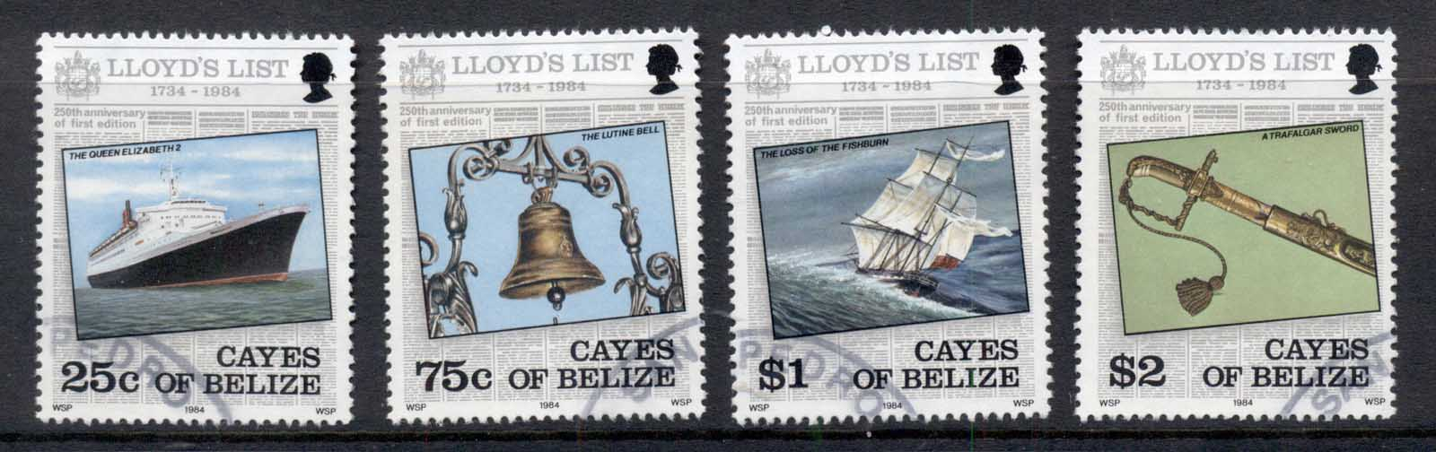 Cayes of Belize 1984 Lloyd's List Ships FU