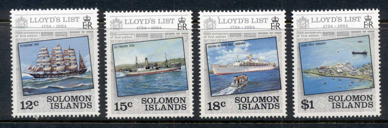 Solomon Is 1984 Lloyd's List Ships MUH