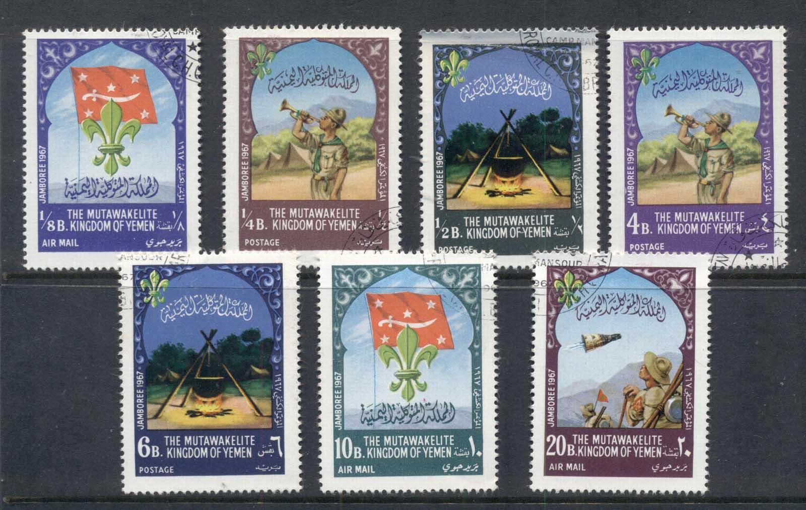 Yemen Kingdom 1967 Mi#365-371 World Scout Jamboree Idaho CTO