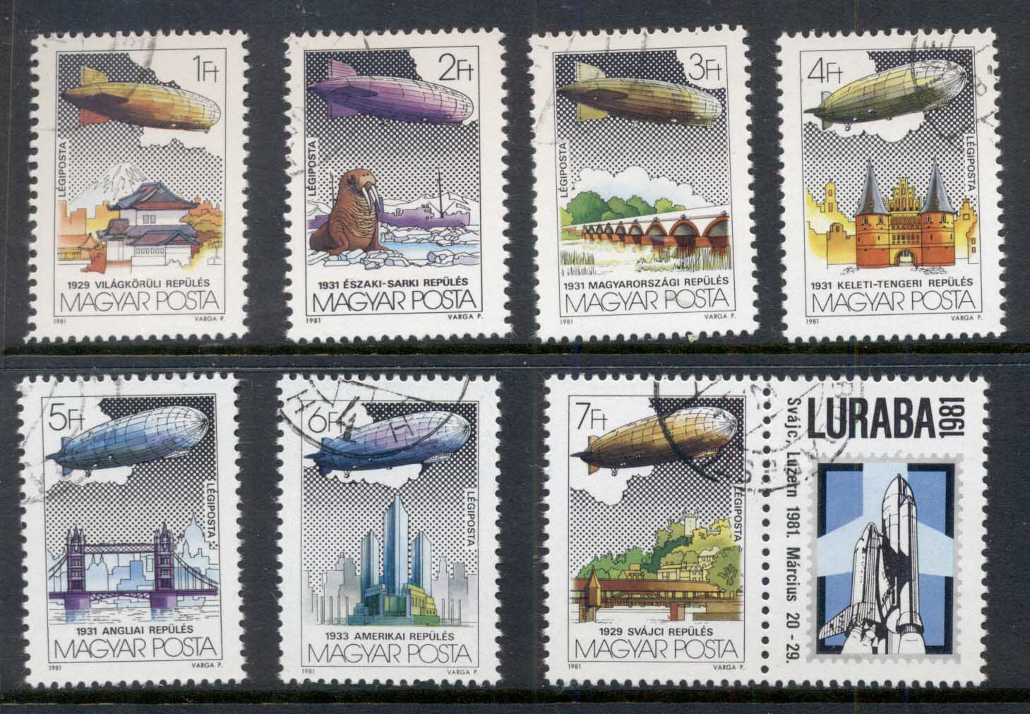 Hungary 1981 Zeppelin Flights CTO