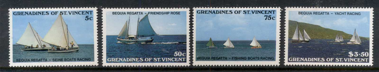 St Vincent Grenadines 1988 Yacht regatta MUH