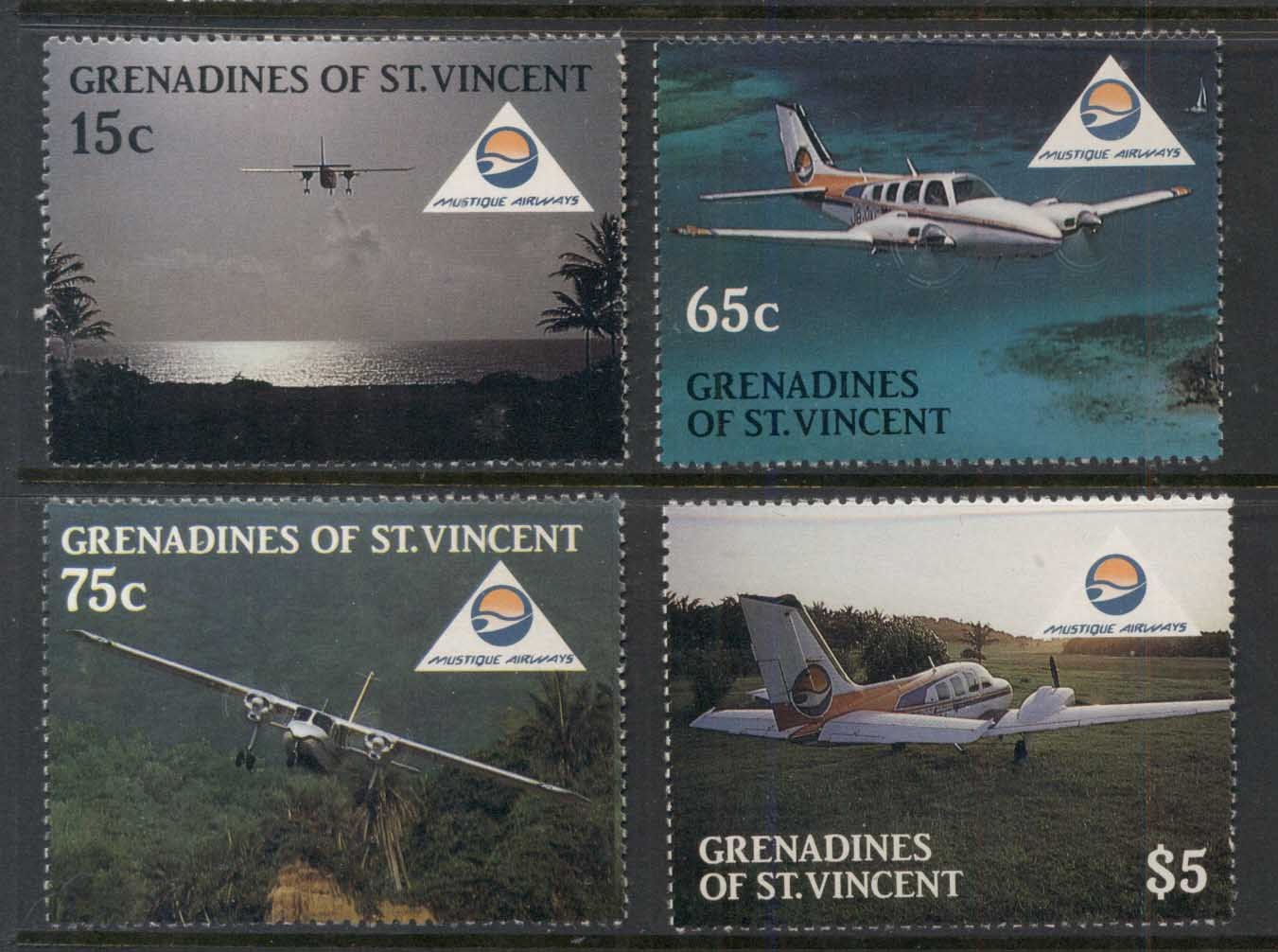 St Vincent Grenadines 1988 Tourism, Planes MUH