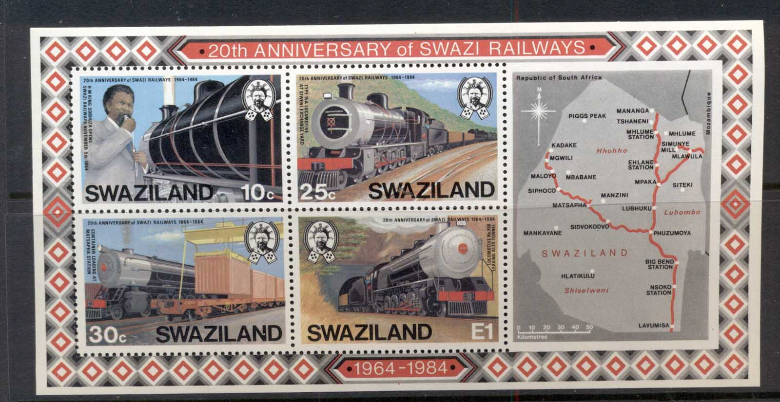Swaziland 1984 Trains MS MUH