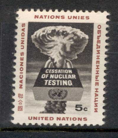 UN New York 1964 Nuclear test Ban MUH