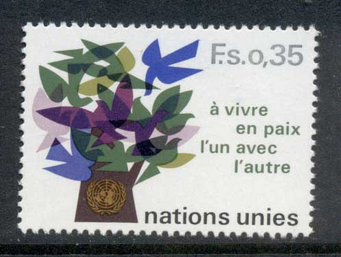 UN Geneva 1978 Tree of Doves MUH