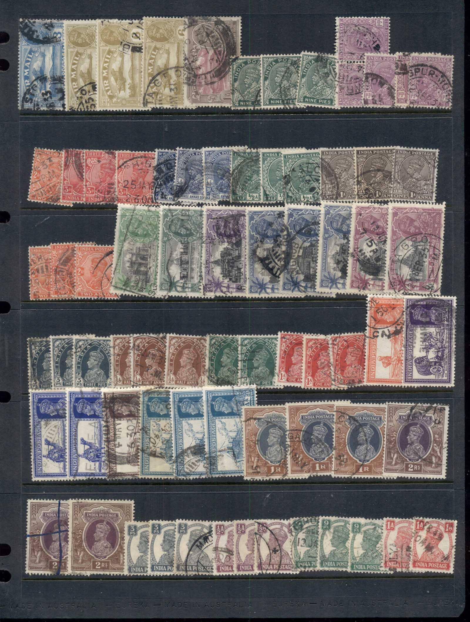 India 1880's on Assorted oddments ind duplicates & multiples, some States 22 scans - Click Image to Close