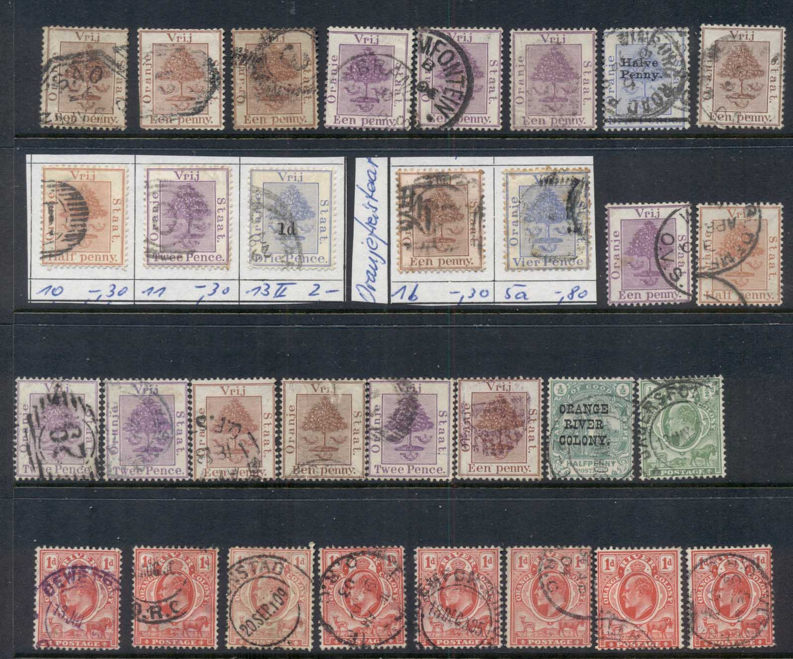 Orange River Colony 1868 on Assorted oddments