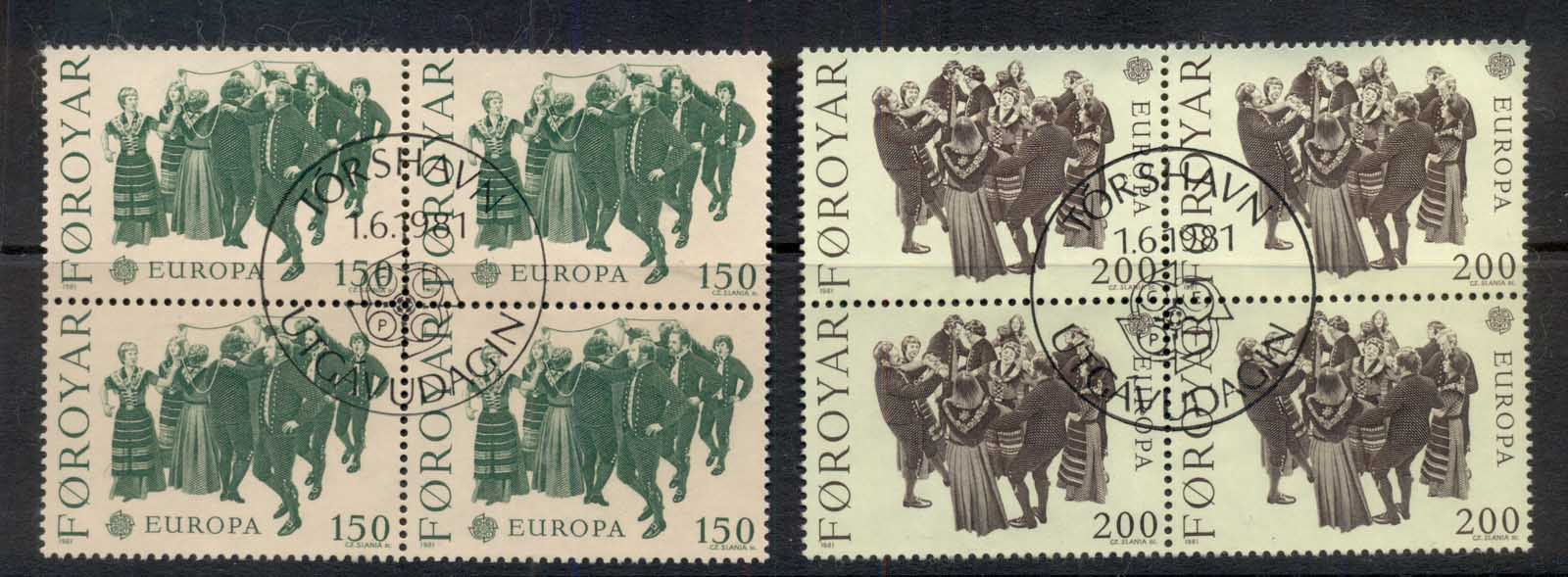 Faroe Is 1981 Europa, Dance blk4 FU