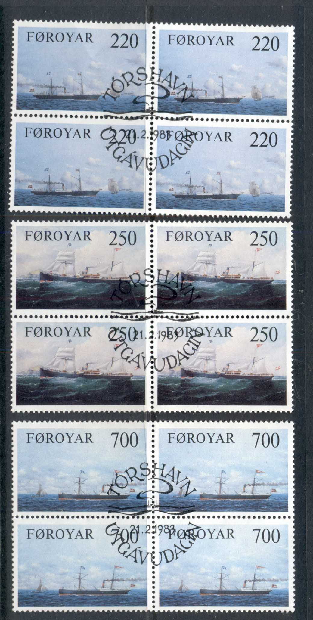 Faroe Is 1983 Cargo Ships blk4 FU