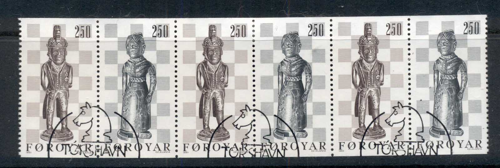 Faroe Is 1983 Chessmen booklet pane FU