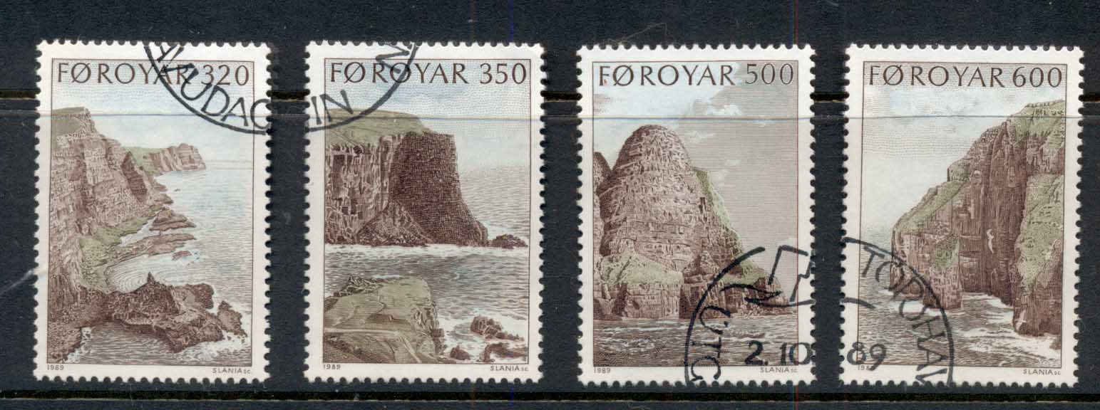 Faroe Is 1989 Bird Cliffs of Sadnroy FU - Click Image to Close