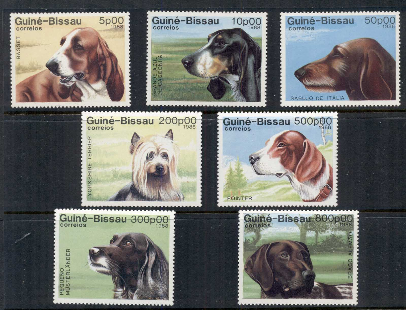 Guinea Bissau 1988 Dogs MUH