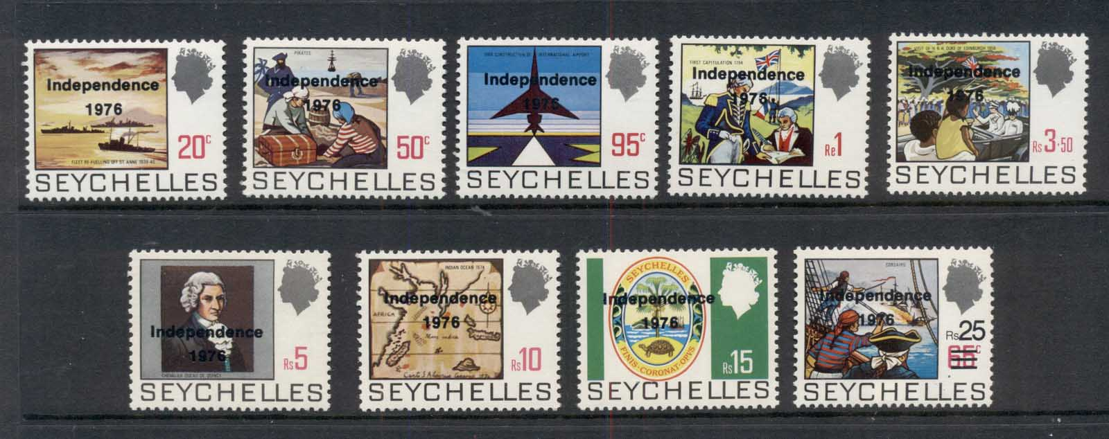 Seychelles 1976 Independence Opts MUH