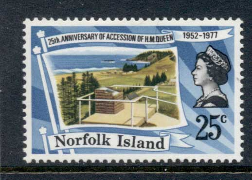 Norfolk Is 1977 QEII Silver Jubilee MUH