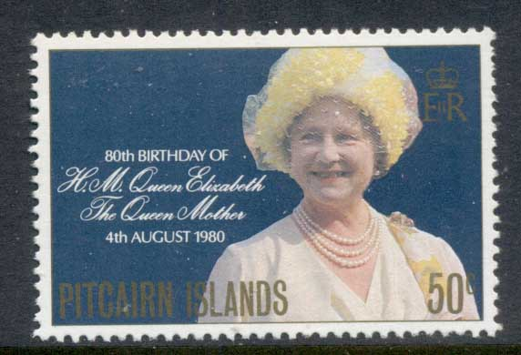 Pitcairn Is 1980 Queen Mother 80th Birthday MUH