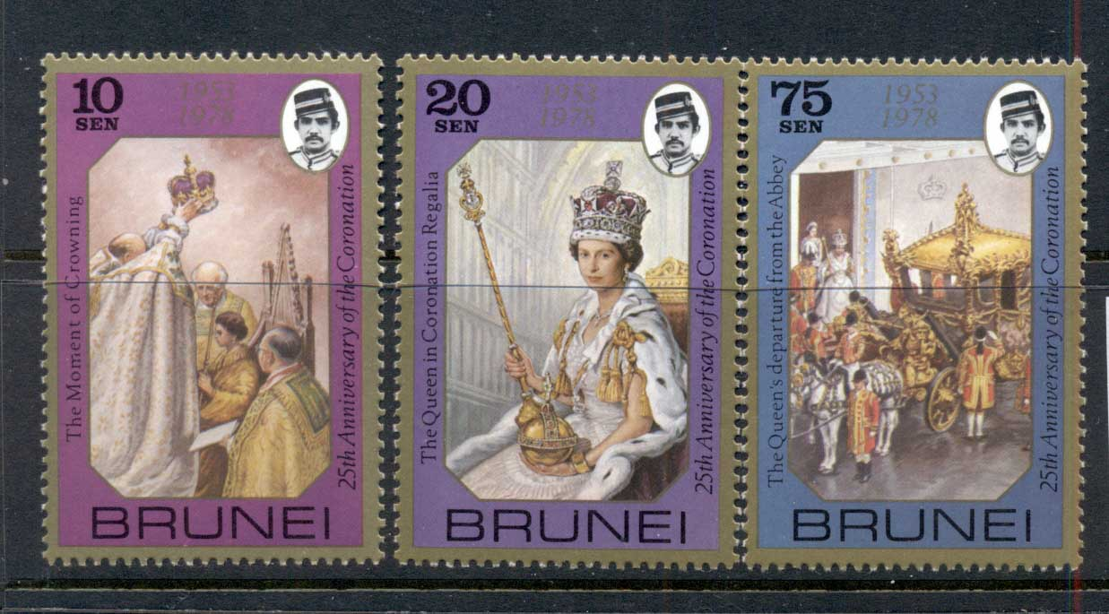Brunei 1978 QEII Coronation 25th Anniv. MUH