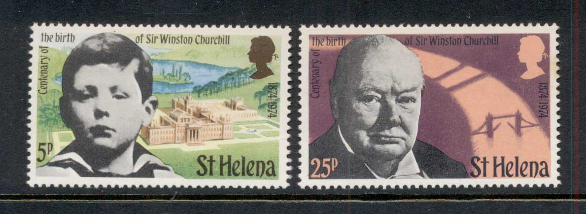 St Helena 1974 Churchill MUH