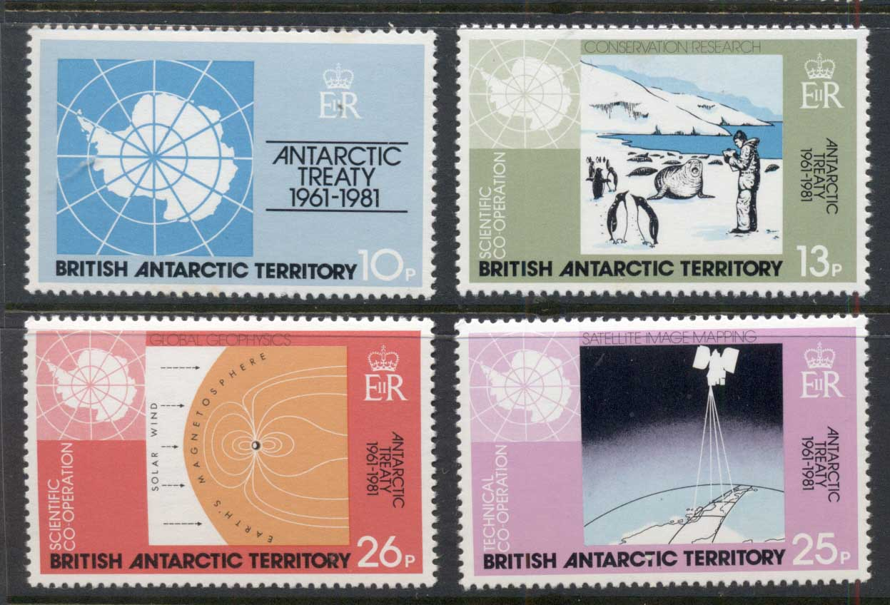 BAT 1981 Antarctic Treaty MUH
