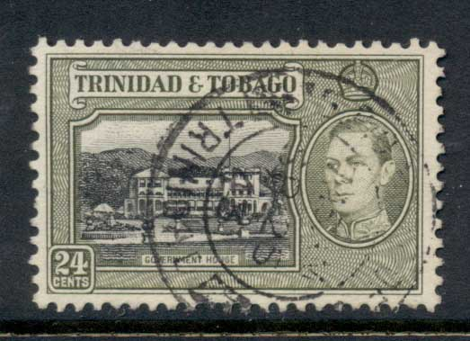 Trinidad & Tobago 1938-41 KGVI Pictorials 24c Government House FU