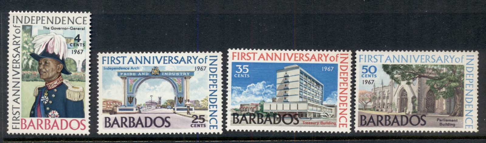 Barbados 1967 Independence 1st Anniv. MLH