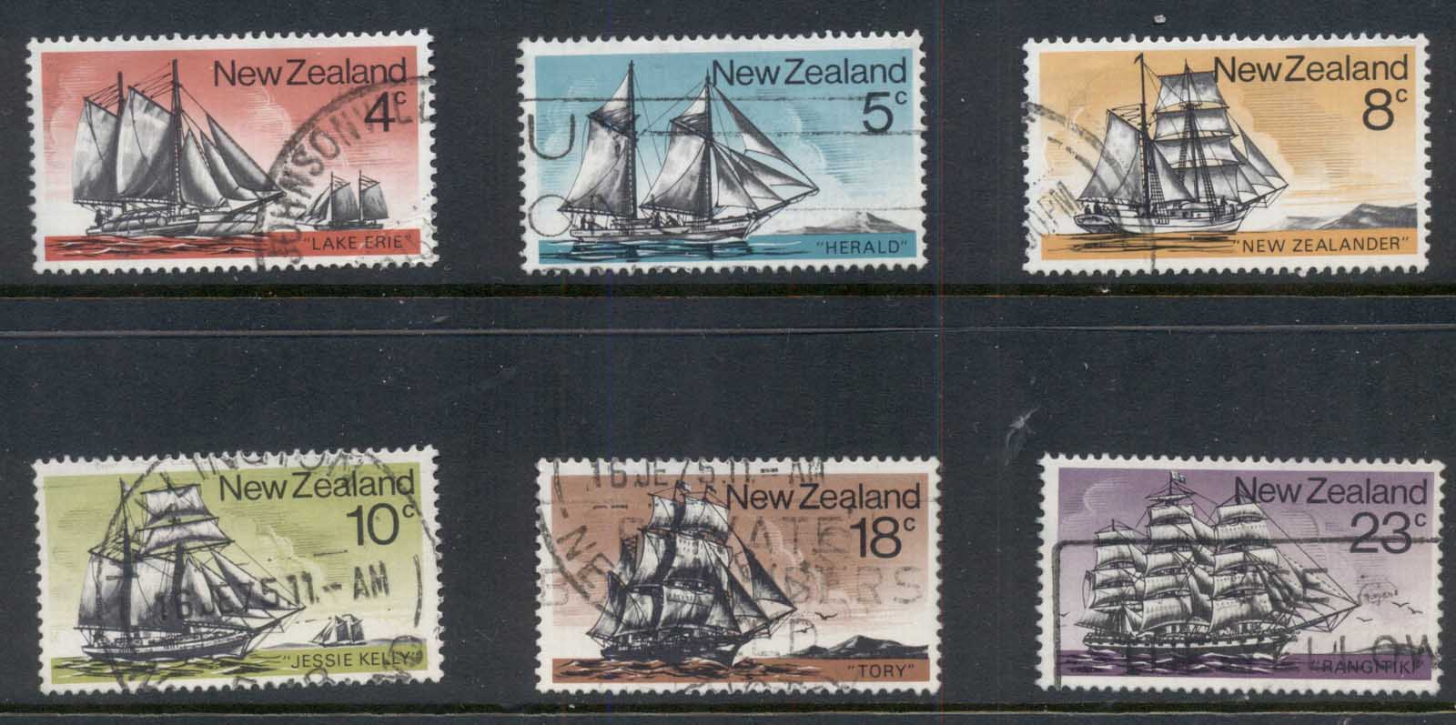 New Zealand 1975 Historic sailing Ships FU
