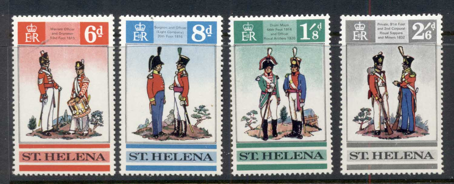 St Helena 1969 British Uniforms MUH