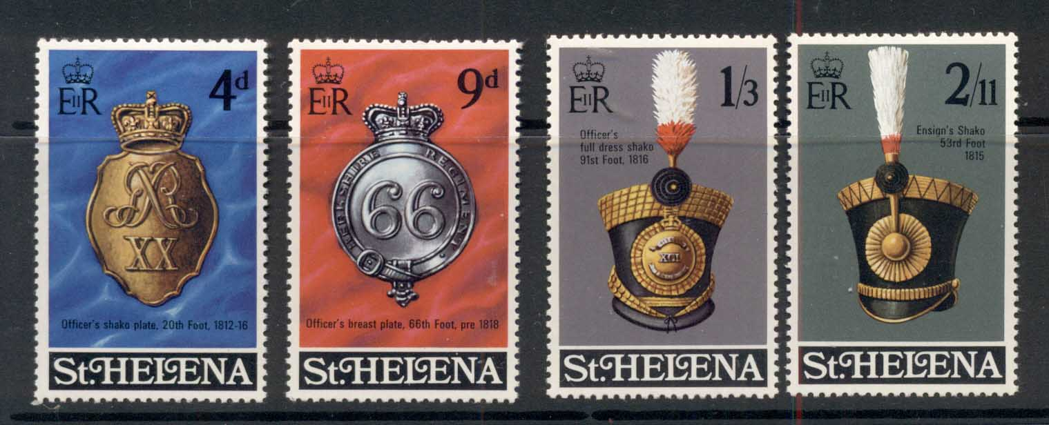 St Helena 1970 Regimental Emblems MUH