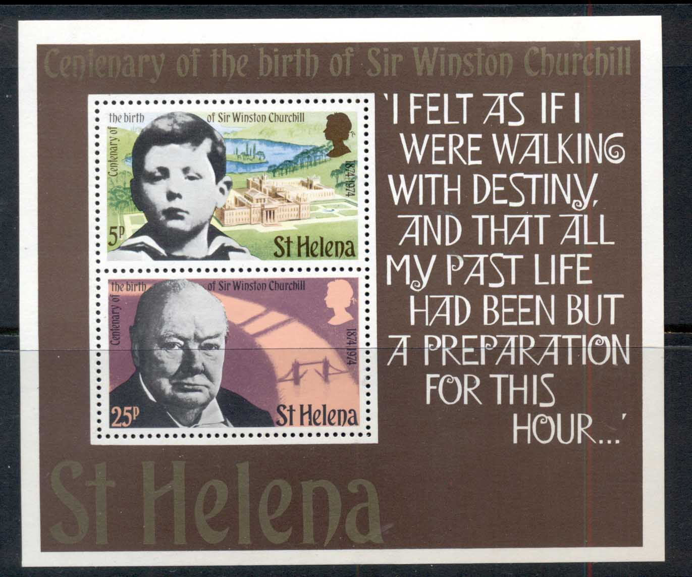 St Helena 1974 Churchill MS MLH
