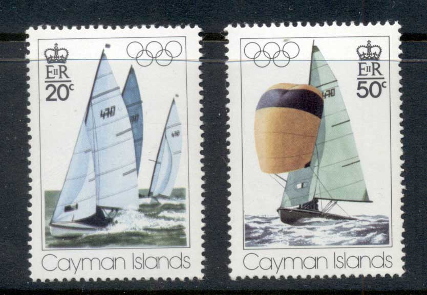 Cayman Is 1976 Summer Olympics Montreal, Yachts MUH