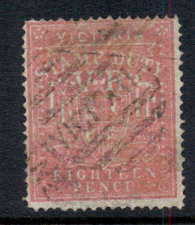 Victoria 1879-96 Stamp Duty 1/6d Perf Fisc Used