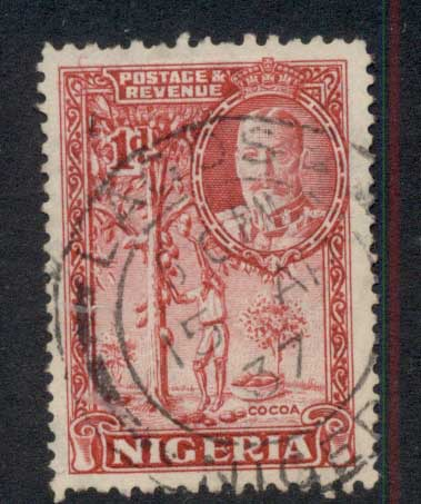 Nigeria 1936 KGV Pictorial 1d Picking Cacao Pods FU