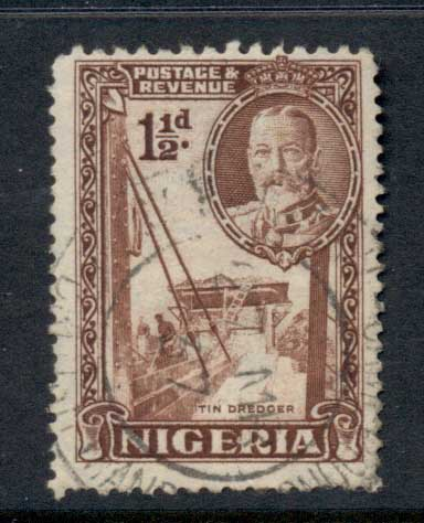 Nigeria 1936 KGV Pictorial 1.5d Dredging for Tin FU